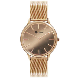 Q-Era Rose Gold Mesh Women's  Watch - QV2808-2