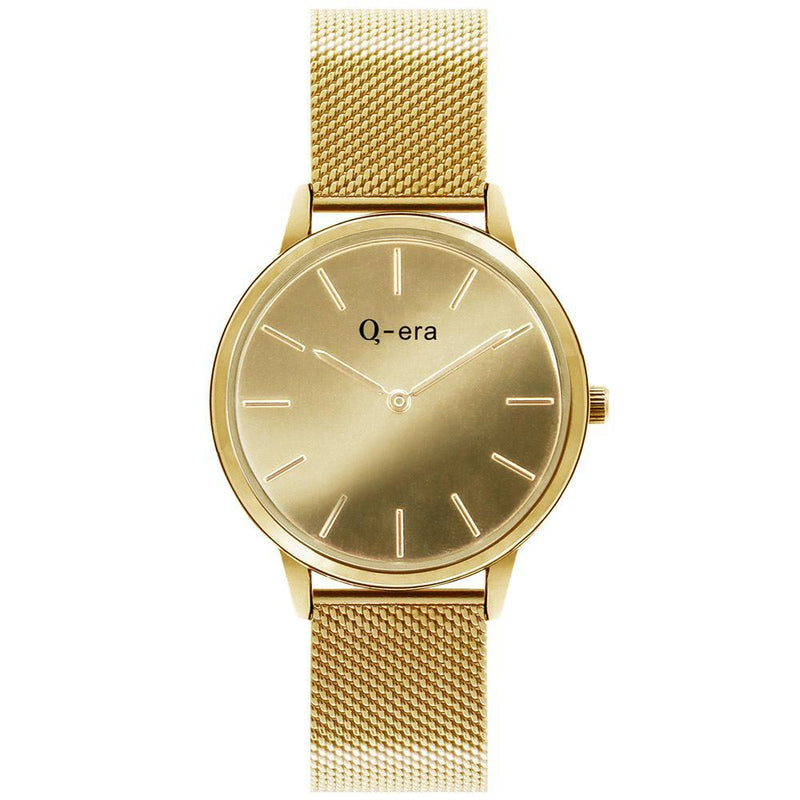 Q-Era Gold Mesh Women's  Watch - QV2808-6
