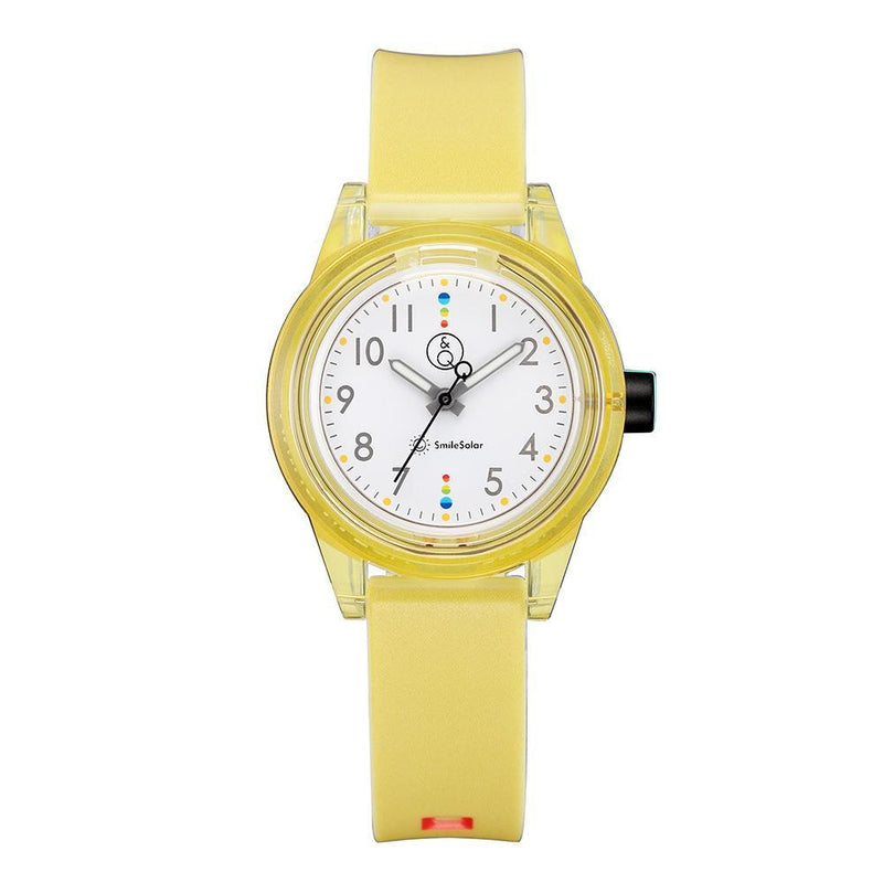 Q&Q Smilesolar Series Yellow Solar Unisex Watch - RP29J008Y