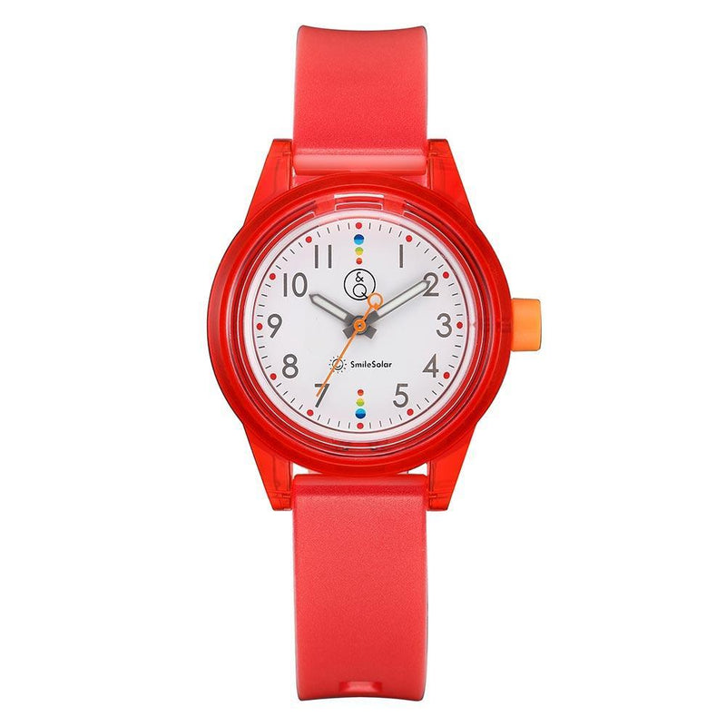 Q&Q Smilesolar Series Red Unisex Watch - RP29J011Y