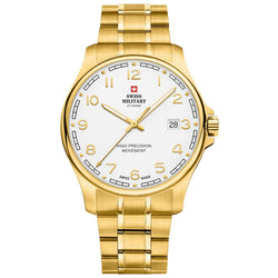 Swiss Military Gold Stainless Steel Men's Watch - SM30200.23