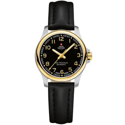 Swiss Military Black Leather Women's Watch - SM30201.27