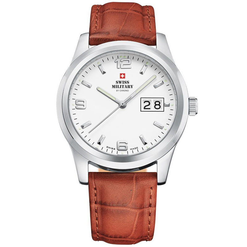Swiss Military Brown Leather Men's Watch - SM34004.06