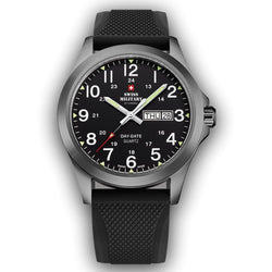 Swiss Military Black Stainless Steel Men's Watch - SMP36040.20