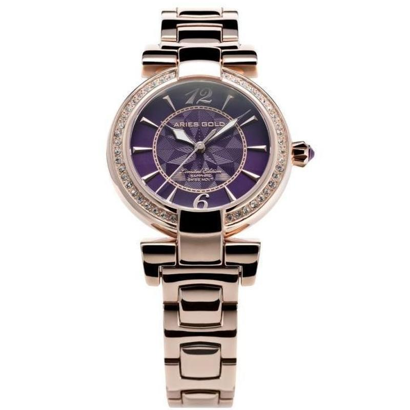 Aries Gold Enchant Limited Edition Women's Watch - L 500 RG-PURP