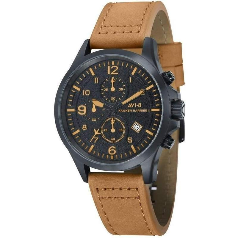 Avi-8 HAWKER HARRIER II Men's Brown Leather Watch - AV-4001-09