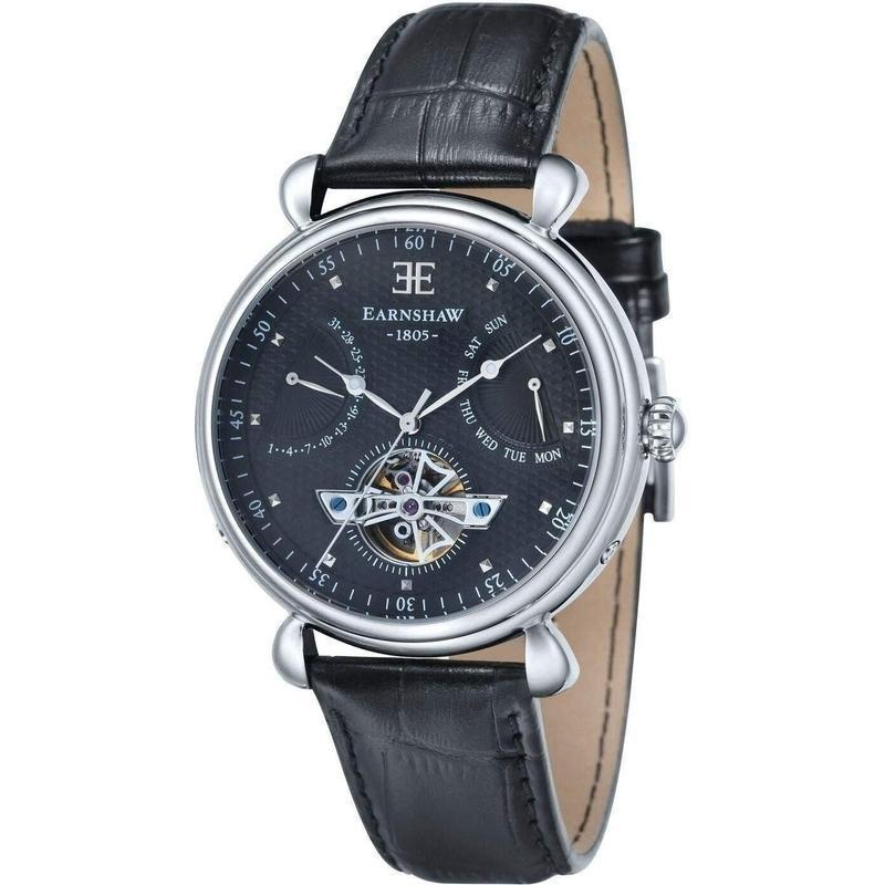 Earnshaw Leather Automatic Watch - ES804601