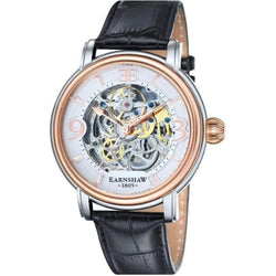 Earnshaw Longcase Automatic Leather Men's Watch - ES-8011-06