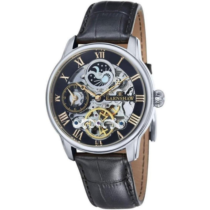 Earnshaw LONGITUDE Automatic Leather Mens Watch - ES-8006-04