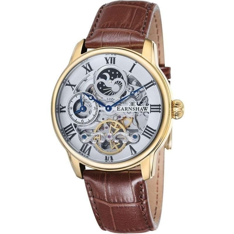 Earnshaw Longitude Leather Automatic Mens Watch - ES-8006-02