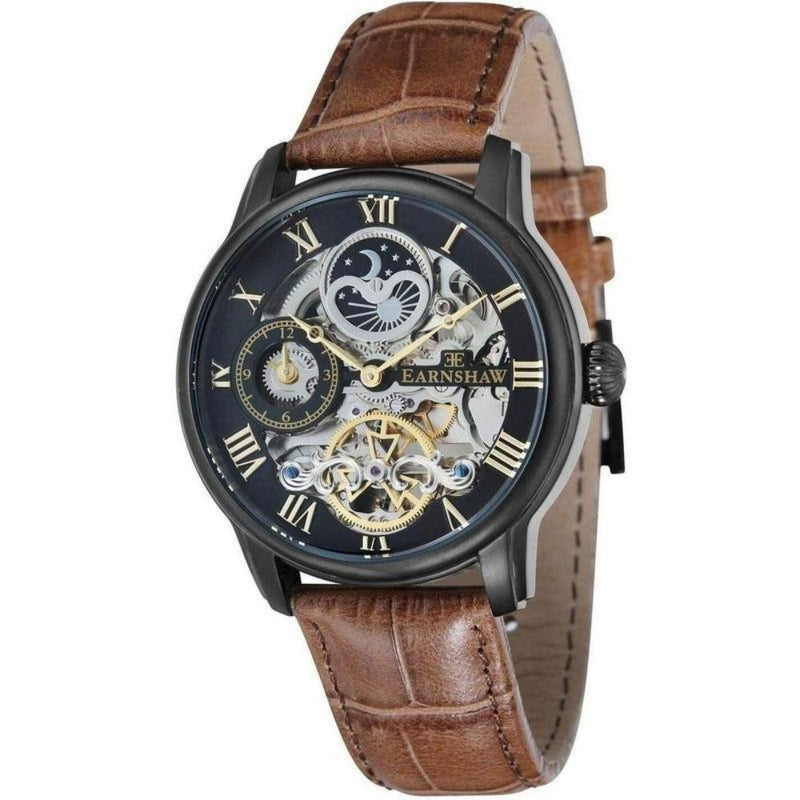 Earnshaw Longitude Men's Leather Automatic Watch - ES-8006-10