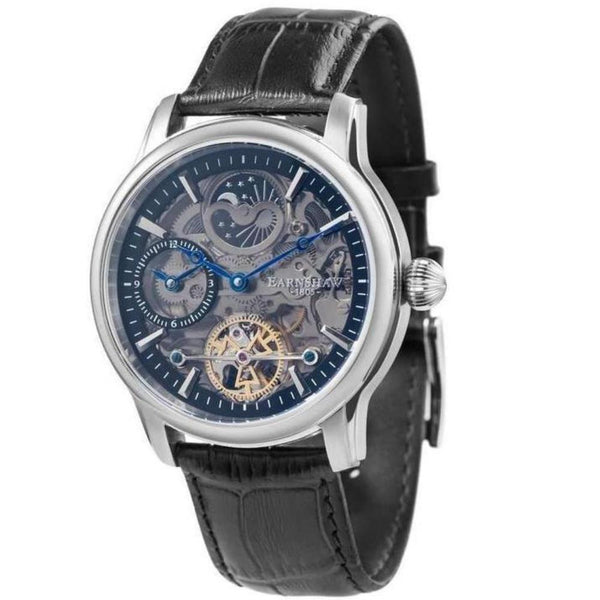 Earnshaw Longitude Shadow Men's Automatic Leather Watch - ES-8063-04