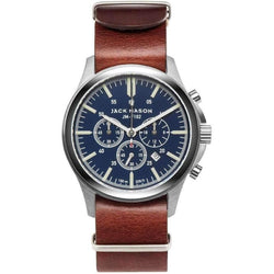 Jack Mason Field Chronograph Leather Mens Watch - JM-F102-015