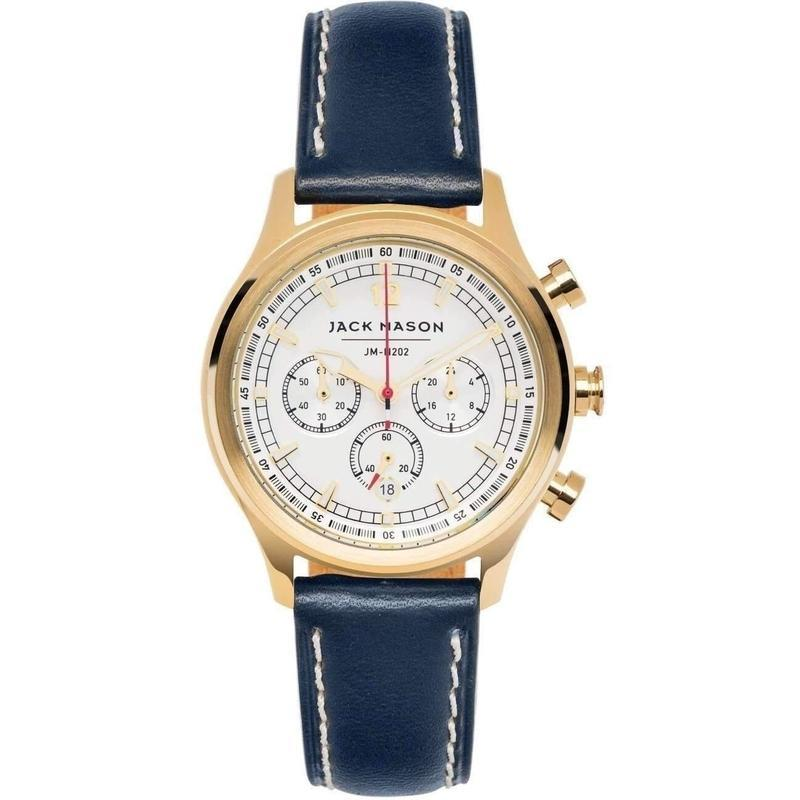 Jack Mason Nautical Chronograph Leather Ladies Watch - JM-N202-009