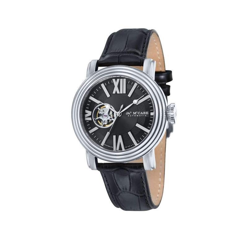 James McCabe Automatic Leather Watch - JM101801