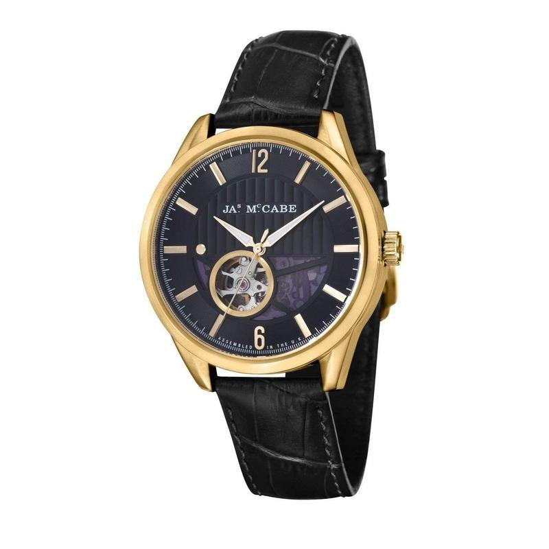 James McCabe Belfast Automatic Leather Mens Watch - JM-1020-03