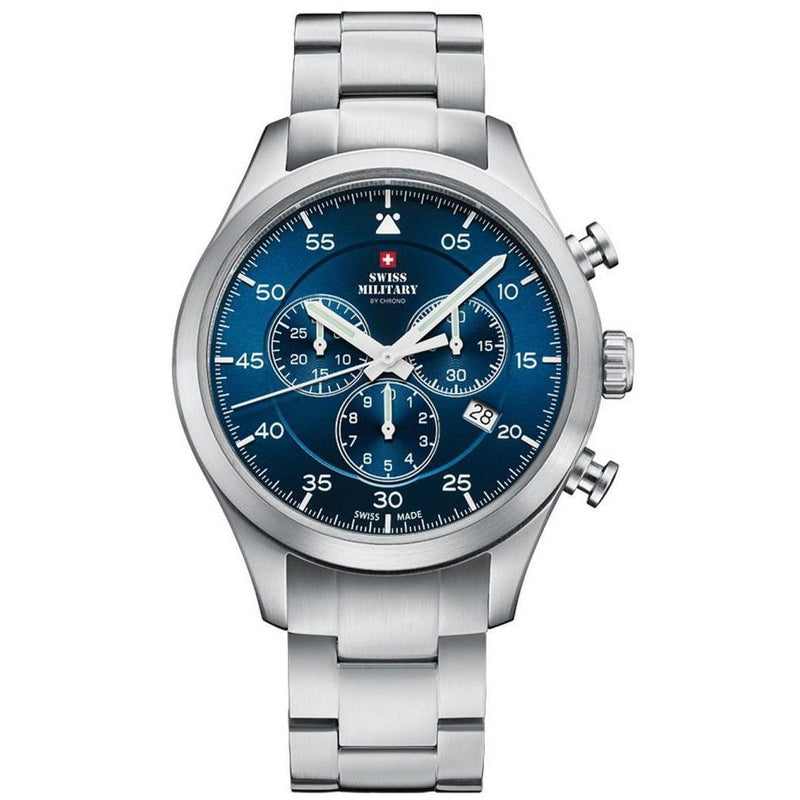 Swiss Military Stainless Steel Chrono Men's Watch - SM34076.02