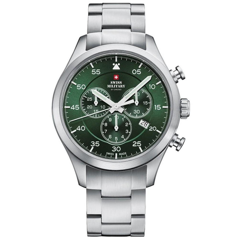 Swiss Military Stainless Steel Chrono Men's Watch - SM34076.03