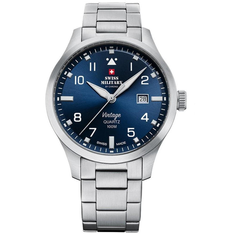 Swiss Military Stainless Steel Men's Watch  - SM34078.03