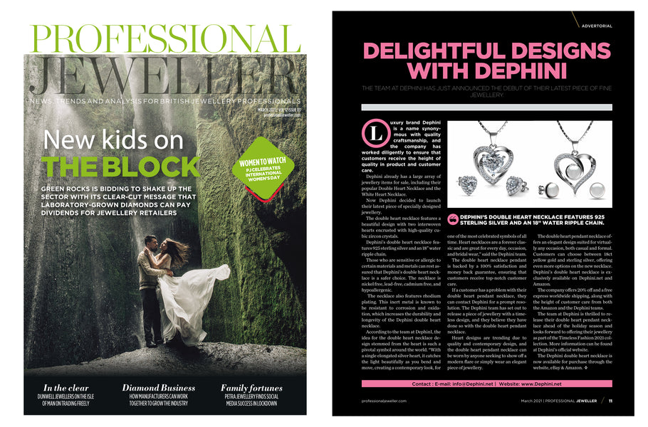 DEPHINI Featured in PROFESSIONAL JEWELER