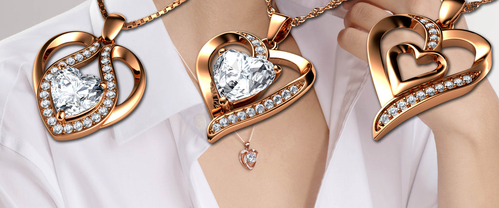 rose gold jewellery pendant necklaces