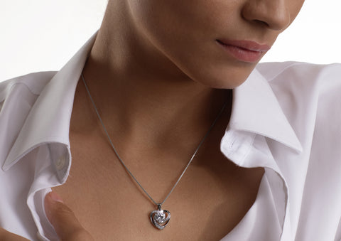 styling a heart necklace with business wear