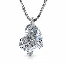 Load image into Gallery viewer, Crystal Heart Necklace dephini