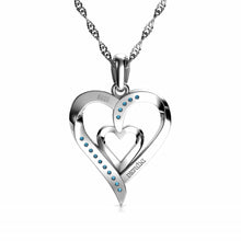 Load image into Gallery viewer, Double heart pendant