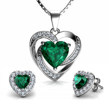 Load image into Gallery viewer, Green Jewellery Set