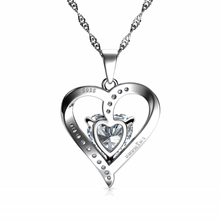 Load image into Gallery viewer, Silver CZ necklace
