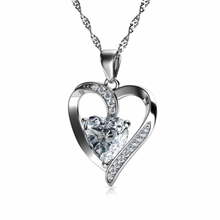 Load image into Gallery viewer, Silver CZ pendant