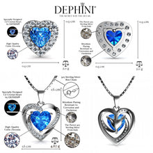 Load image into Gallery viewer, blue Heart Jewellery Set