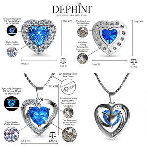 blue Heart Jewellery Set