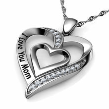 Load image into Gallery viewer, I Love You Mom Necklace - 925 Sterling Silver Heart Jewellery Dephini