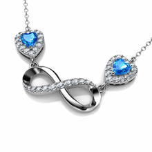 Load image into Gallery viewer, Copy of DEPHINI - Infinity Necklace - 925 Sterling Silver Pendant Blue CZ Crystals Gift