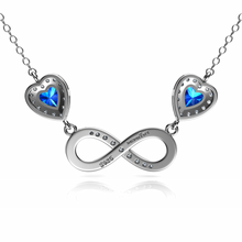 Load image into Gallery viewer, Infinity blue Necklace