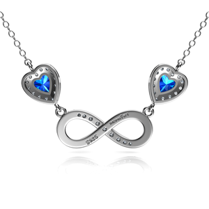Infinity blue Necklace
