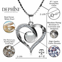 Load image into Gallery viewer, Heart Pearl pendant