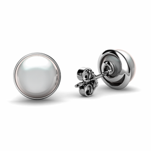 Load image into Gallery viewer, Real Pearl Stud Earrings