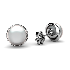 Real Pearl Stud Earrings