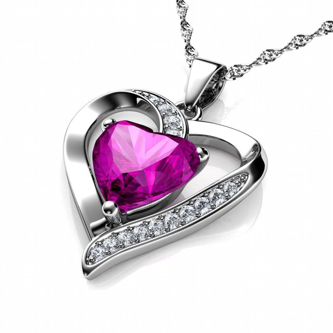 Pink Heart Necklace