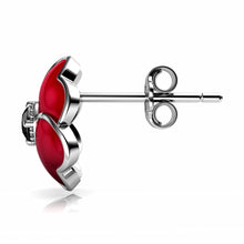 Load image into Gallery viewer, Red stud Earrings