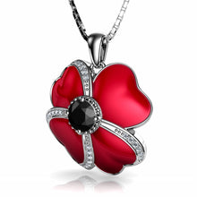Load image into Gallery viewer, Red Flower Necklace