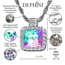 Load image into Gallery viewer, DEPHINI - Rainbow crystal necklace - 925 sterling silver jewellery  100% Swarovski® branded Crystal
