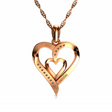 Load image into Gallery viewer, Rose Heart Necklaces