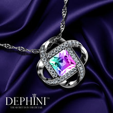 Load image into Gallery viewer, DEPHINI - Rainbow crystal Pendant - 925 sterling silver jewellery  100% Swarovski® branded Crystal
