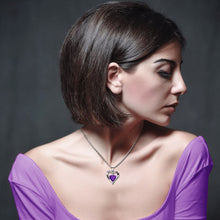 Load image into Gallery viewer, Purple Heart Necklace for women