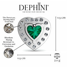 Load image into Gallery viewer, Green Heart stud Earrings