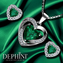 Load image into Gallery viewer, Green heart jewellery Set