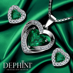 Green heart jewellery Set